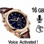 Armbanduhr-Spionagerecorder zur getarnten Audioüberwachung. Voice-Activated.