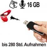 USB-Audiowanze für diskrete Sprachaufzeichnung.