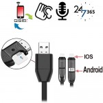 GSM-Abhörgerät in Handyladekabel